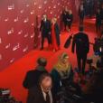Emmanuelle Béart (robe Dior) avec son compagnon Frédéric aux César 2016