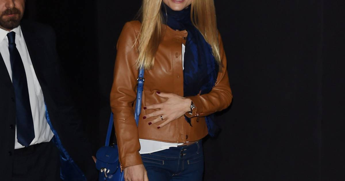 Michelle Hunziker lors du défilé Trussardi (collection ...