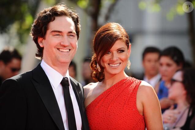 Debra Messing et Daniel Zelman - 61e Annual Primetime Emmy Awards, à Los Angeles,le 20 septembre 2009