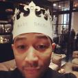 John Legend lors de la baby shower de sa femme Chrissy Teigen. Photo publiée sur Instagram, le 6 mars 2016.