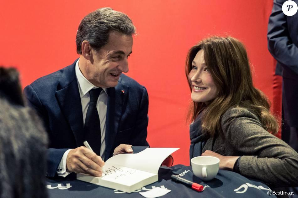 Exclusif Carla Bruni Sarkozy Est Venue Faire Une Surprise A Son Mari Nicolas Sarkozy Qui Dedicace Son Livre La France Pour La Vie A La Fnac De Boulogne Billan Purepeople