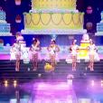 """""""Les cinq finalistes défilent, lors de l'élection Miss France 2016 le samedi 19 décembre 2015 sur TF1"""""""