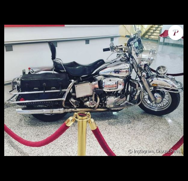 La Harley-Davidson de Michel Polnareff. Instagram, le 19 mars 2016.