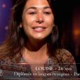 Louise dans Bachelor, sur NT1, lundi 21 mars 2016