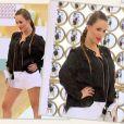 """Cristina Cordula subjuguée par le style de Camille dans """"Les Reines du shopping"""" sur M6, le 23 mars 2016."""