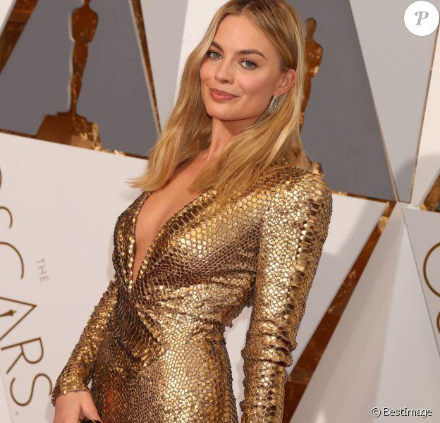 Margot Robbie - Photocall de la 88e cérémonie des Oscars au Dolby Theatre à Hollywood. Le 28 février 2016