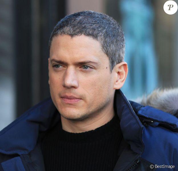 """Exclusif - Wentworth Miller lors du tournage de la série """"The Flash"""" à New Westminster, le 19 janvier 2015."""