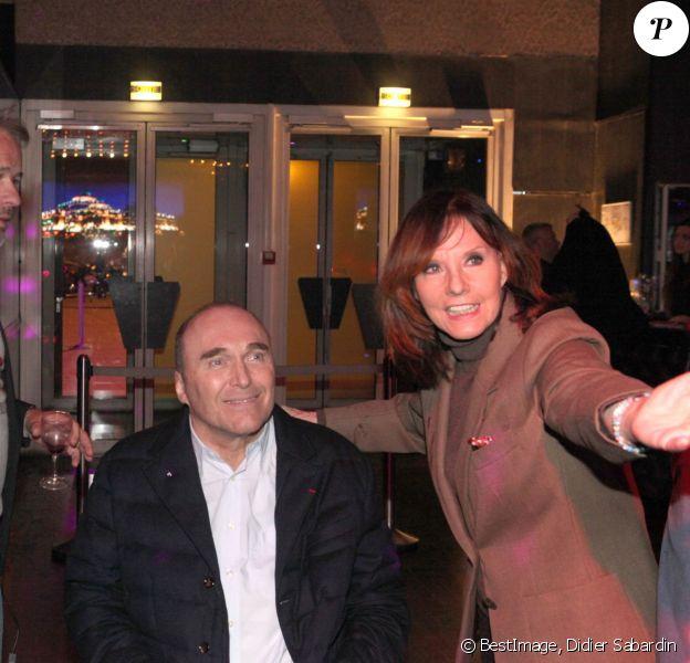 Exclusif : Philippe Streiff avec Christophe Kulikowski et Denise Fabre, lors de la Soirée des Niçois au Palais Maillot, le 22 mars 2016 à Paris © Didier Sabardin