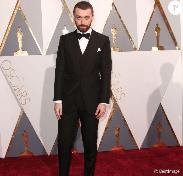 Sam Smith à la 88e cérémonie des Oscars à Los Angeles le 28 février 2016.