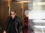 REPORTAGE PHOTOS EXCLUSIVES  : Johnny Hallyday est sorti de la clinique ce matin, en forme !