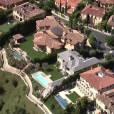 Kim Kardashian et Kanye West ont emménagé dans leur nouvelle maison de Bel Air. Vue aérienne de leur villa.