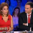 Léa Salamé et Yann Moix, dans On n'est pas couché sur France 2, le samedi 9 avril 2016.