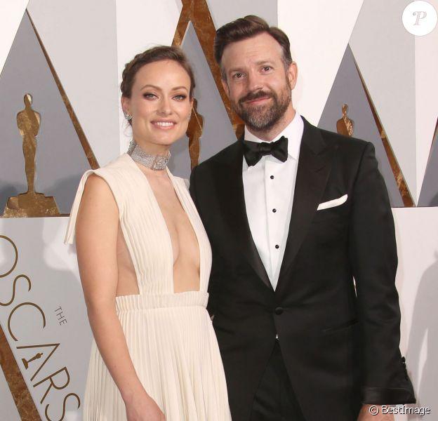 Olivia Wilde et Jason Sudeikis à la 88e cérémonie des Oscars au Dolby Theatre à Hollywood le 28 février 2016