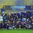 Le PSG remporte sa sixième Coupe de la Ligue face au LOSC au Stade de France. Saint-Denis, le 23 avril 2016. © Cyril Moreau/Bestimage