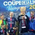 Zlatan Ibrahimovic - Le PSG remporte la coupe de la ligue face à Lille au Stade de France à Paris, le 23 avril 2016. © Cyril Moreau/Bestimage