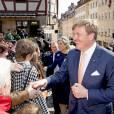 Le roi Willem-Alexander des Pays-Bas et la reine Maxima visitent la maison Albrecht-Dürer à Nuremberg le 14 avril 2016. 14/04/2016 - Nuremberg