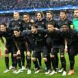 Le PSG en 1/4 de finale retour de la ligue des champions face à Manchester City le 12 avril 2016. © Cyril Moreau/Bestimage