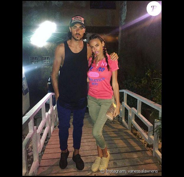Vanessa Lawrens et Julien Guirado en vacances en République dominicaine. Avril 2016.