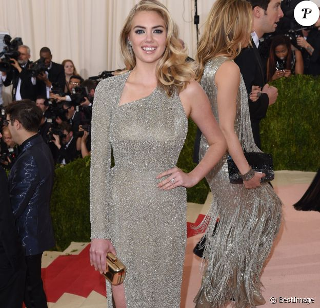 "Kate Upton - Soirée Costume Institute Benefit Gala 2016 (Met Ball) sur le thème de ""Manus x Machina"" au Metropolitan Museum of Art à New York, le 2 mai 2016."