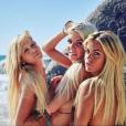 "Jessica, Adixia et Carla posent topless dans ""Les Marseillais South Africa"" (W9). Le 4 mai 2016"
