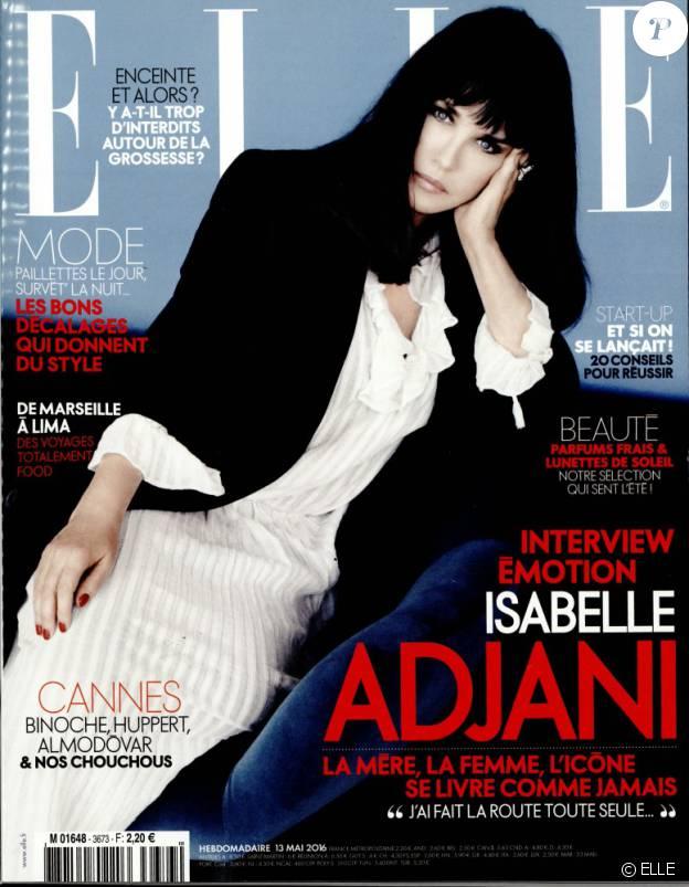 Isabelle Adjani dans ELLE en kiosques ce vendredi 13 mai 2016.