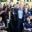 Le prince Harry et Michelle Obama - Cérémonie d'ouverture des Invictus Games à Orlando. Le 8 mai 2016  Prince Harry and First Lady Michelle Obama meet the USA Invictus Team ahead of the Opening Ceremony of the Invictus Games Orlando 2016 at ESPN Wide World of Sports in Orlando, Florida.08/05/2016 - Orlando