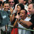 Nicole Scherzinger enthousiaste a l'arrivee du Grand Prix du Bresil 2008