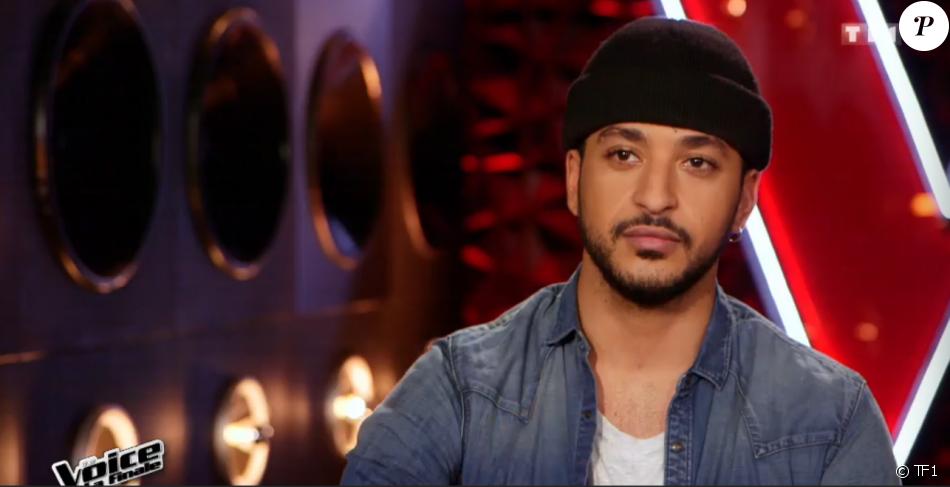 """Slimane lors de la finale de """"The Voice 5"""", sur TF1, le samedi 14 mai 2016"""