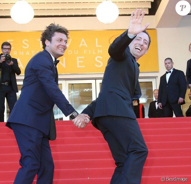 """Kev Adams et Gad Elmaleh - Montée des marches du film """"Elle"""" lors du 69e Festival International du Film de Cannes. Le 21 mai 2016. © Olivier Borde-Cyril Moreau/Bestimage"""