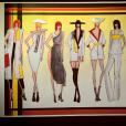 Pauline Ducruet a achevé les dessins de cette collection dans le cadre de ses études à la PArsons School of Design à New York, photo Instagram en mai 2016