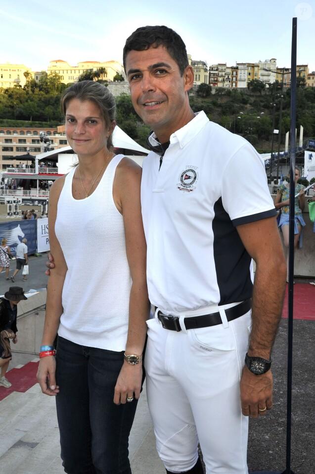 Athina Onassis et son mari Alvaro de Miranda Neto - 20e Jumping International de Monte-Carlo au Port Hercule de Monaco à Monte-Carlo, le 26 juin 2015.