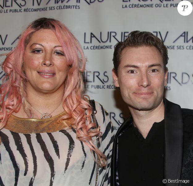 Loana Petrucciani et son compagnon Fred - Soirée des Lauriers TV Awards au Théâtre des Variétés à Paris, le 13 janvier 2016. © Denis Guigneboug/Bestimage