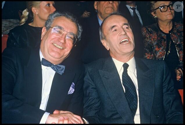Georges Fillioud et André Rousselet en 1985
