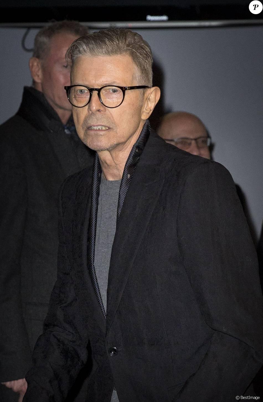 David Bowie au théatre Workshop à New York le 7 décembre 2015.
