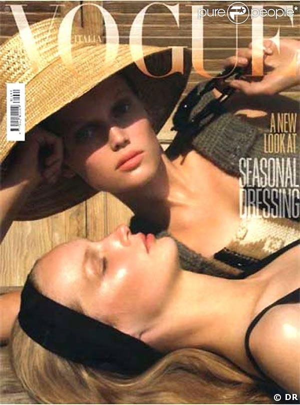 Claudia Schiffer pour Vogue Italie