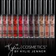 Kylie Jenner assure la promotion de la nouvelle teinte de sa collection de rouge à lèvres : Death of Knight. Photo publiée sur Instagram, le 8 juin 2016