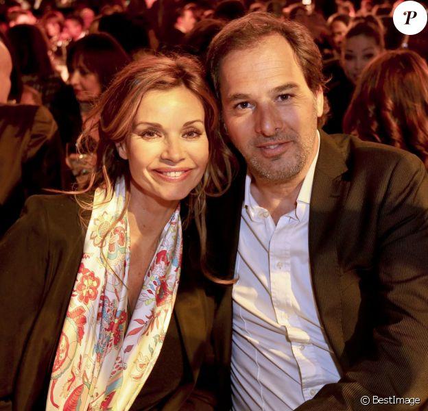 Exclusif - Ingrid Chauvin et son mari Thierry Peythieu - Election Top Model Belgium 2016 au Lido à Paris le 24 janvier 2016. © Philippe Doignon/Bestimage