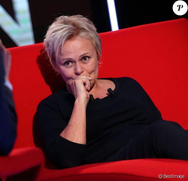 """Exclusif - Enregistrement de l'émission """"Le Divan"""" présentée par Marc-Olivier Fogiel avec Muriel Robin en invitée. Le 15 avril 2016 © Dominique Jacovides / Bestimage"""