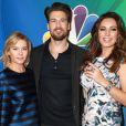 Elisha Cuthbert, Nick Zano et Kelly Brook lors de la soirée NBCUniversal 2015 à Pasadena, le 16 janvier 2015.