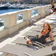 Exclusif - Rendez-vous avec l'actrice Marg Helgenberger (57 ans) aux Thermes Marins Monte-Carlo pendant le 56ème festival de la télévision de Monte-Carlo le 14 juin 2016. © Pool Festival Tv Monaco / Bestimage Exclusive