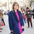 """La chanteuse Coeur de Pirate (Béatrice Martin) au défilé de mode """"Barbara Bui"""" prêt-à-porter Automne-Hiver 2015-2016 au Palais de Tokyo à Paris, le 5 mars 2015."""