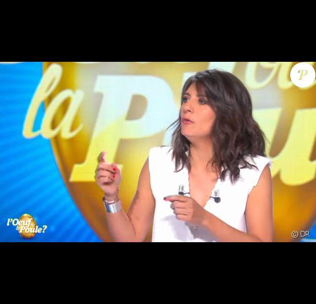 Estelle Denis Face à Medi Sadoun dans L'oeuf ou la poule, le 16 juin 2016 sur D8.