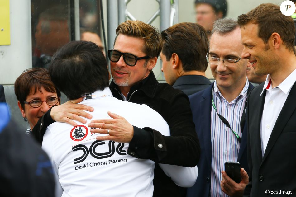 Brad Pitt et Jackie Chan - Les stars du cinéma aux 24 heures du Mans le 18 juin 2016