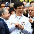 Jackie Chan et Jean Todt - Les stars du cinéma aux 24 heures du Mans le 18 juin 2016