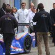Brad Pitt aux 24 heures du Mans le 18 juin 2016