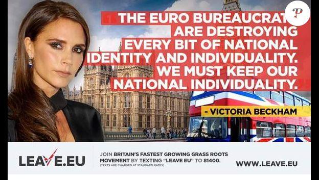 Campage des partisans du Brexit qui utilise de vieux propos de Victoria Beckham.