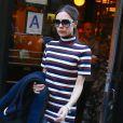 Victoria Beckham à la sortie du restaurant Balthazar à New York, le 14 février 2016.