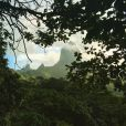 Mareva Galanter en vacances à Tahiti. Juin 2016.