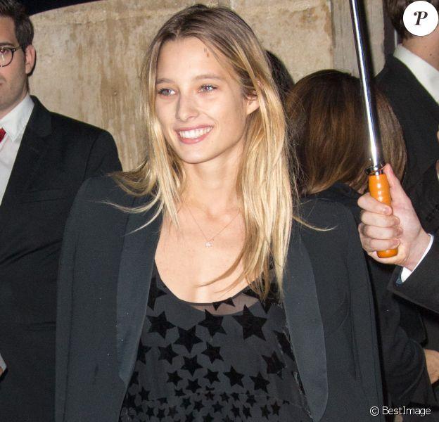 Ilona Smet - Arrivée des people au défilé Sonia Rykiel collection prêt-à-porter Printemps/Eté 2016 lors de la fashion week à Paris, le 5 octobre 2015.