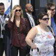 Kate Moss et son compagnon le comte Nikolai von Bismarck arrivent à Venise, le 27 juin 2016.